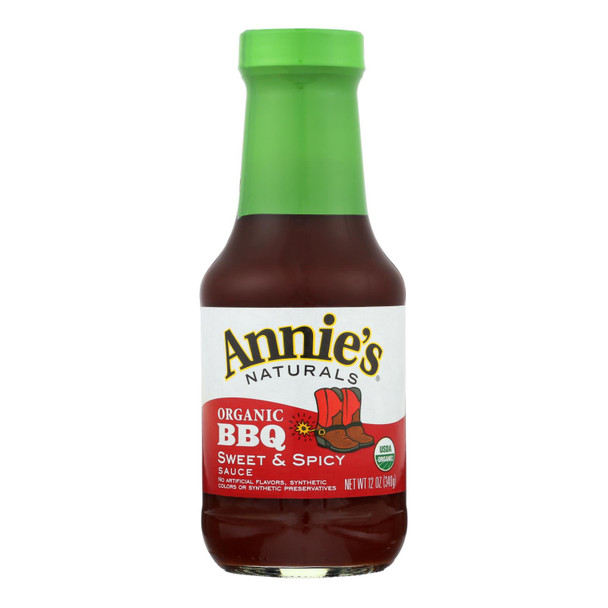 Annie's Naturals Organic Sweet And Spicy Bbq Sauce - Case Of 12 - 12 Oz.