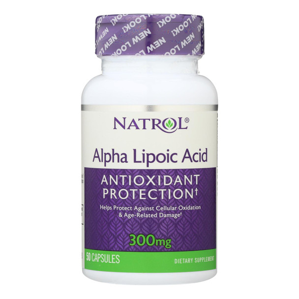 Natrol Alpha Lipoic Acid - 300 Mg - 50 Capsules