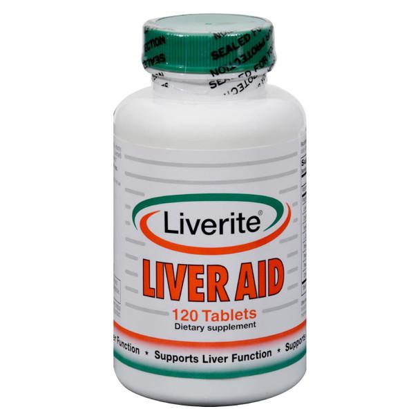 Liverite Liveraid - 120 Tablets