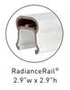 Compatible with Radiance Top Rail, SOLD SEPARATELY
