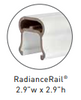 Radiance Top Rail for use with TimberTech's Classic Composite Series Universal Rail Kit or Custom Universal Rail Kit