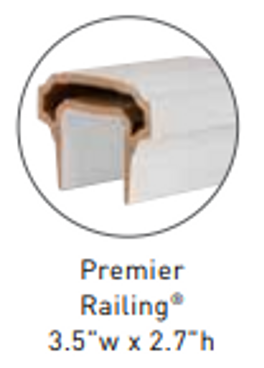 Compatible with Premier Top Rail, SOLD SEPARATELY