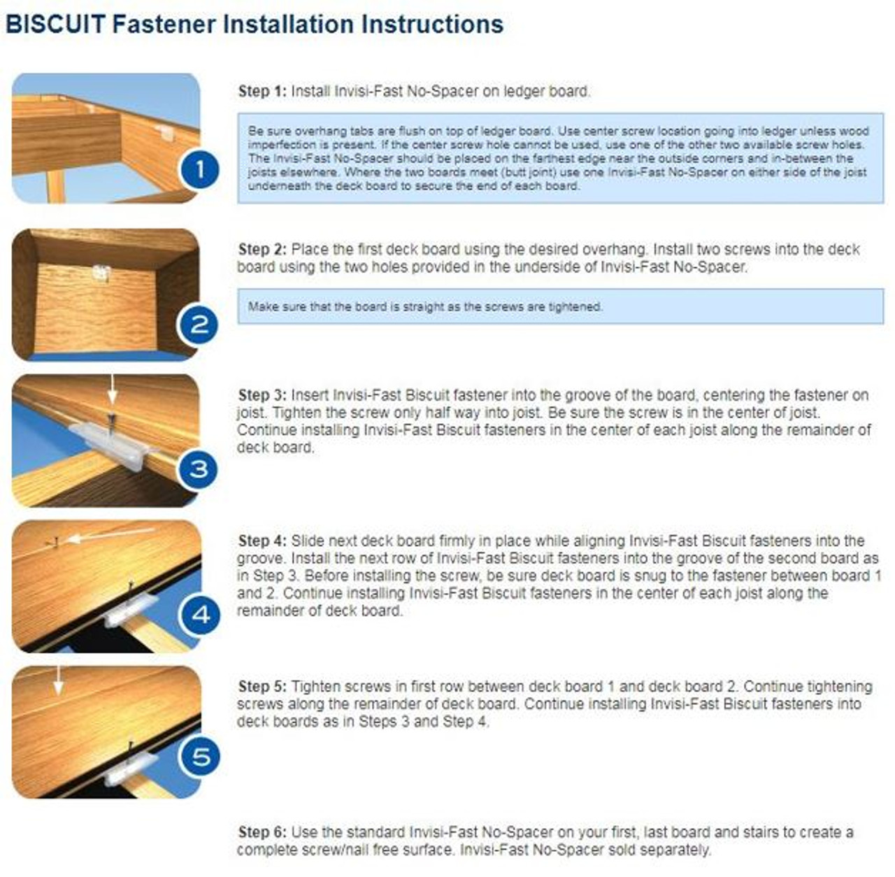 Invisifast Hidden Biscuit Fasteners Installation Guide