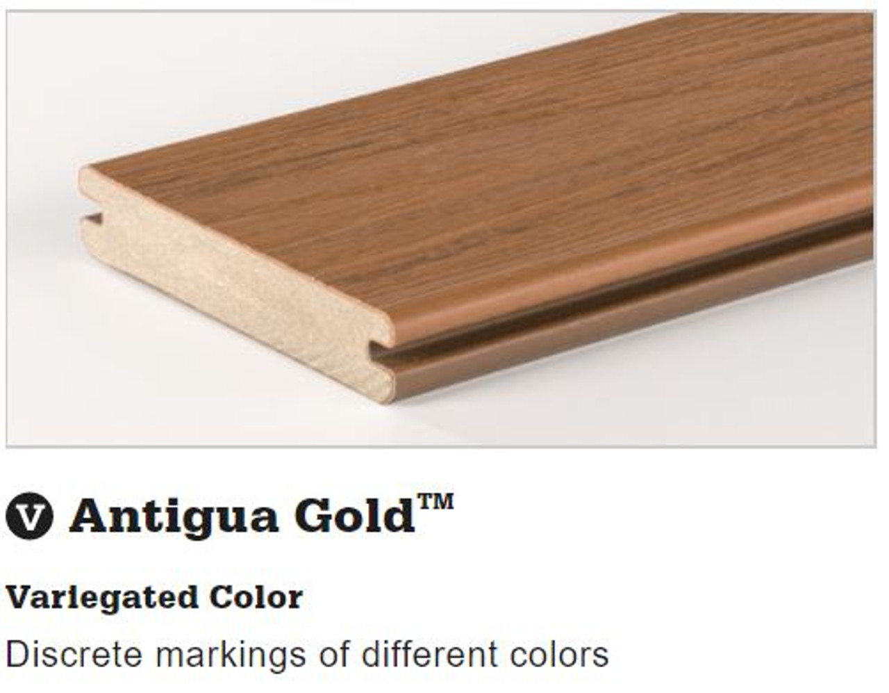 TimberTech Tropical Deck Board in Antigua Gold