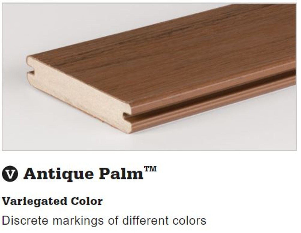 TimberTech Tropical Deck Board in Antique Palm