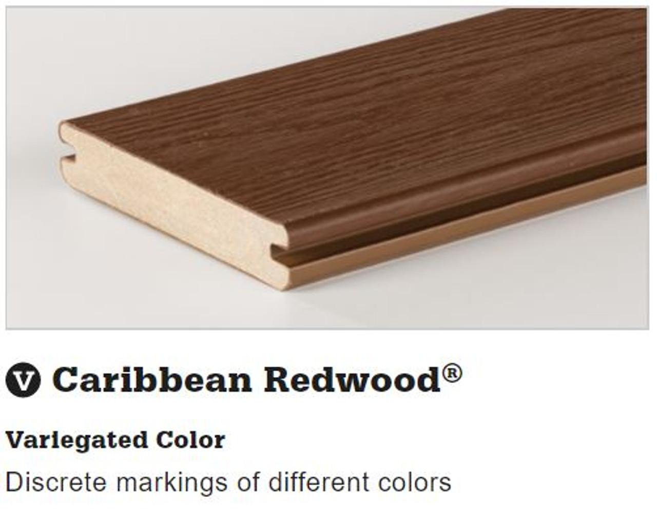 TimberTech Tropical Deck Board in Caribbean Redwood