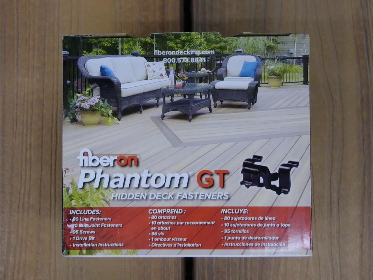 Fiberon Phantom GT Hidden Fasteners