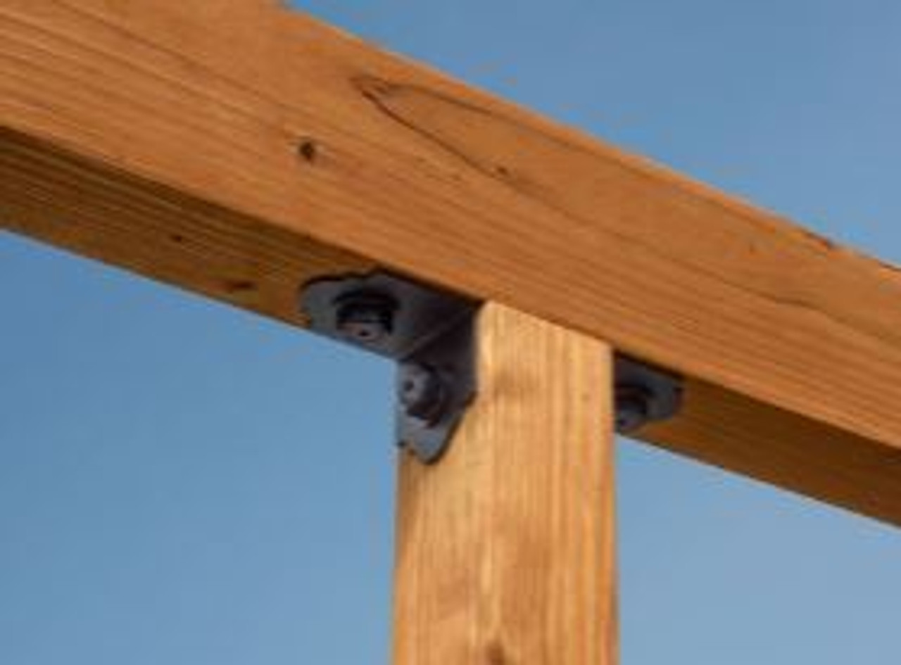 """SIMPSON Strong-Tie Ornamental 4"""" Angle Installed"""