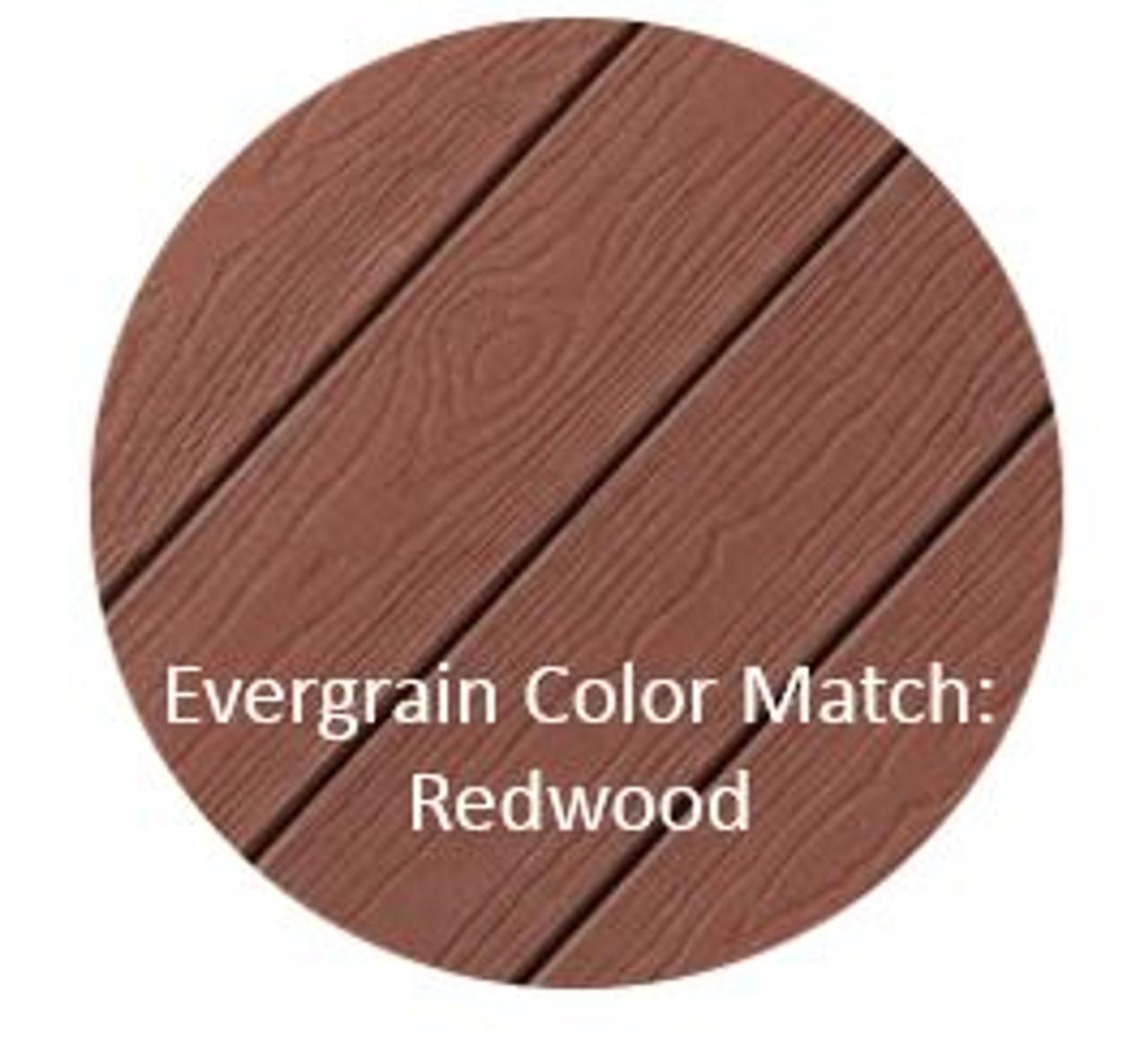 Cortex Hidden Fasteners Color Match: Evergrain Redwood Decking
