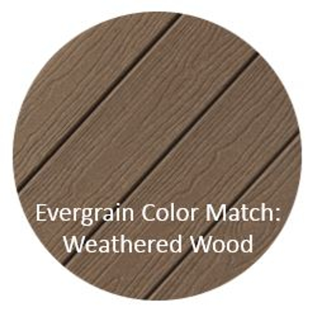 Cortex Hidden Fasteners Color Match: Evergrain Weathered Wood Decking