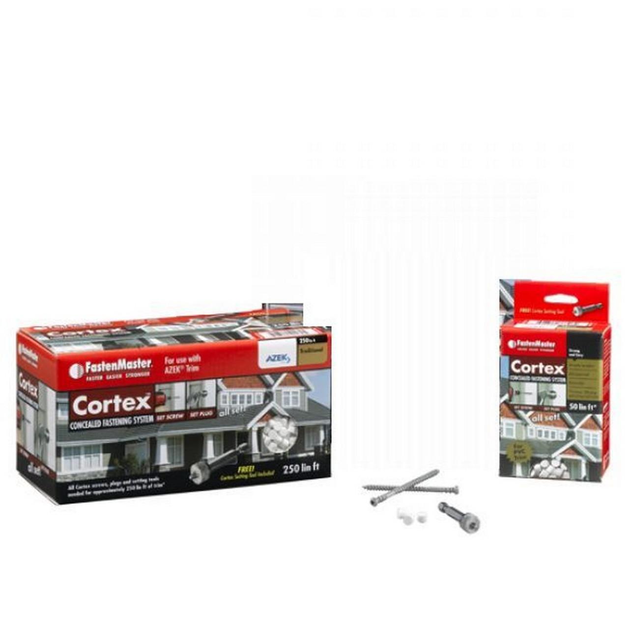Cortex Hidden Fastener White Textured Screw Packs
