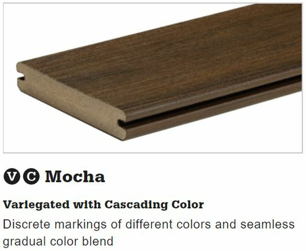TimberTech Legacy Grooved Decking in Mocha