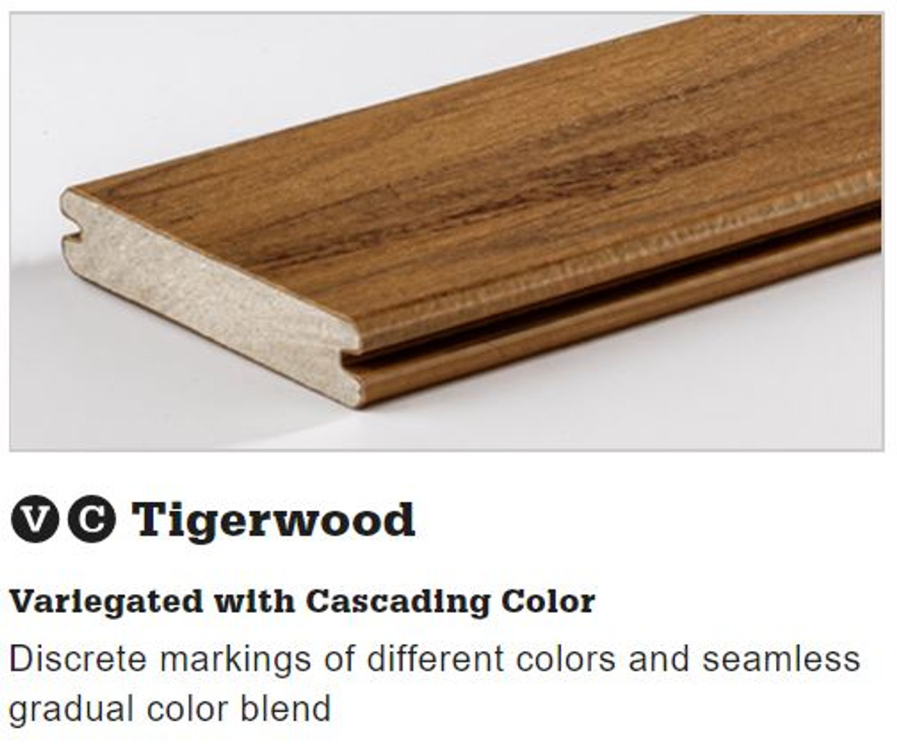 TimberTech Legacy Grooved Decking in Tigerwood