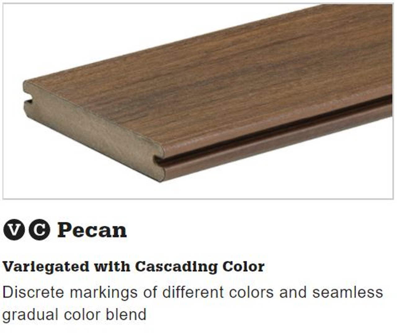 TimberTech Legacy Grooved Decking in Pecan