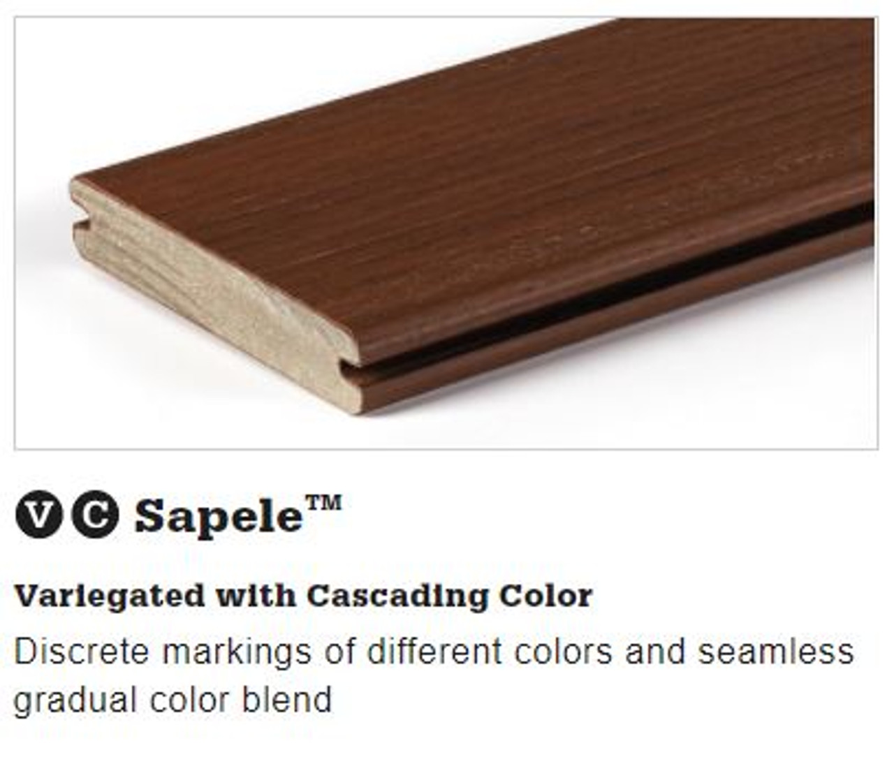 TimberTech Legacy Grooved Decking in Sapele