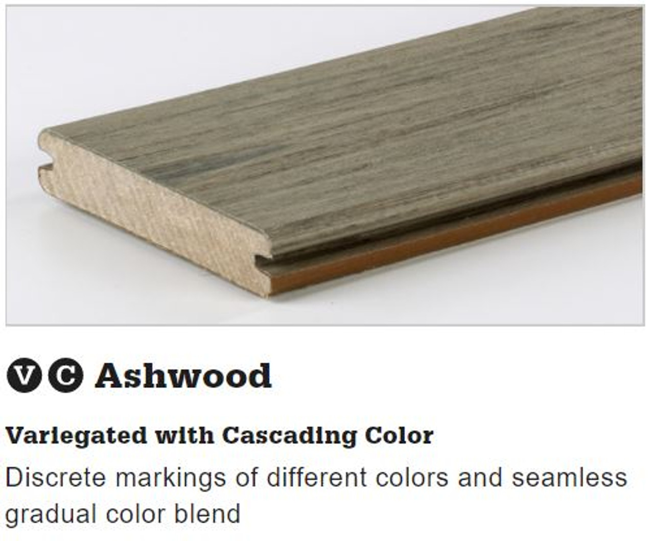 TimberTech Legacy Grooved Decking in Ashwood