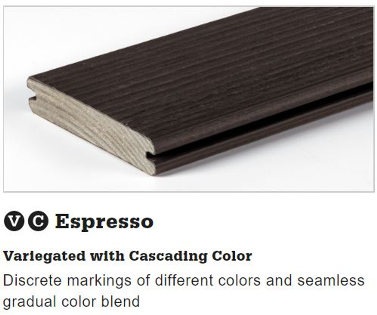 TimberTech Legacy Grooved Decking in Espresso