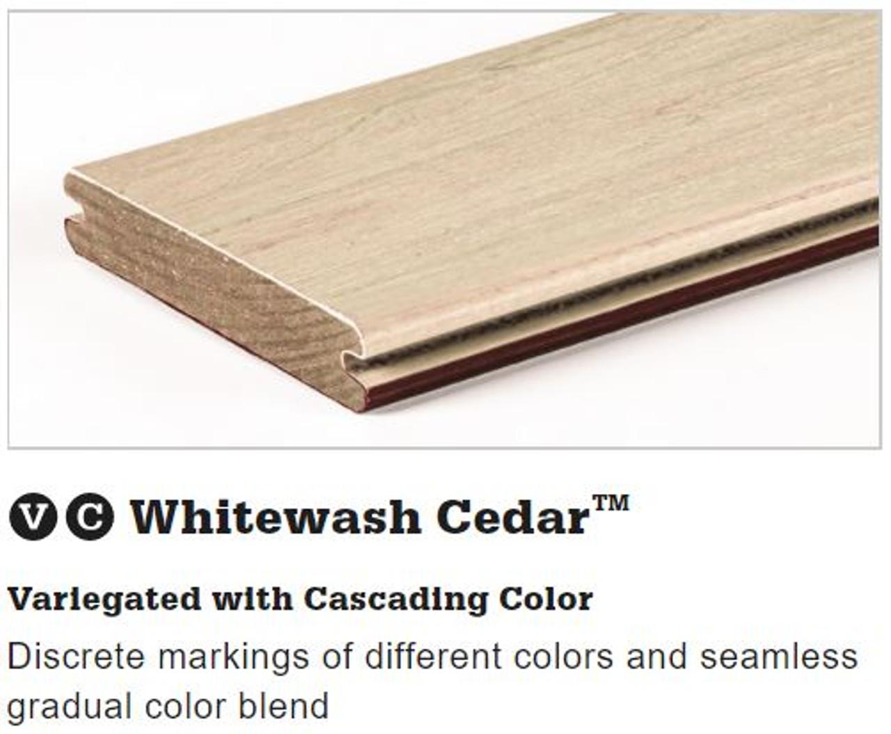 TimberTech Legacy Grooved Decking in Whitewash Cedar