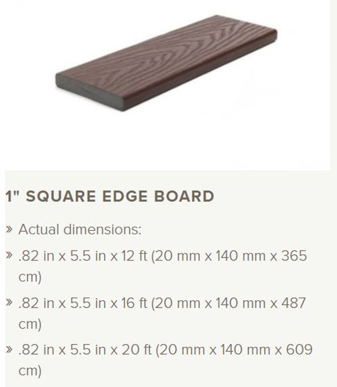 Trex Select Non-Grooved Edge Decking Profile