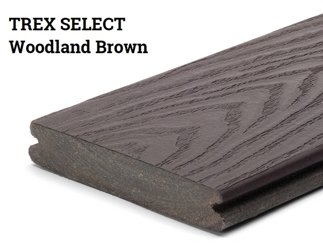 Trex Select Woodland Brown Grooved Edge Decking