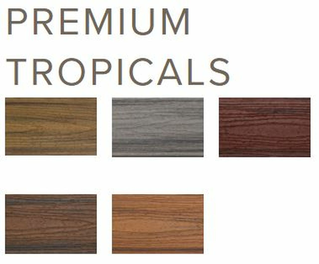 Trex Transcend Tropical Collection Colors