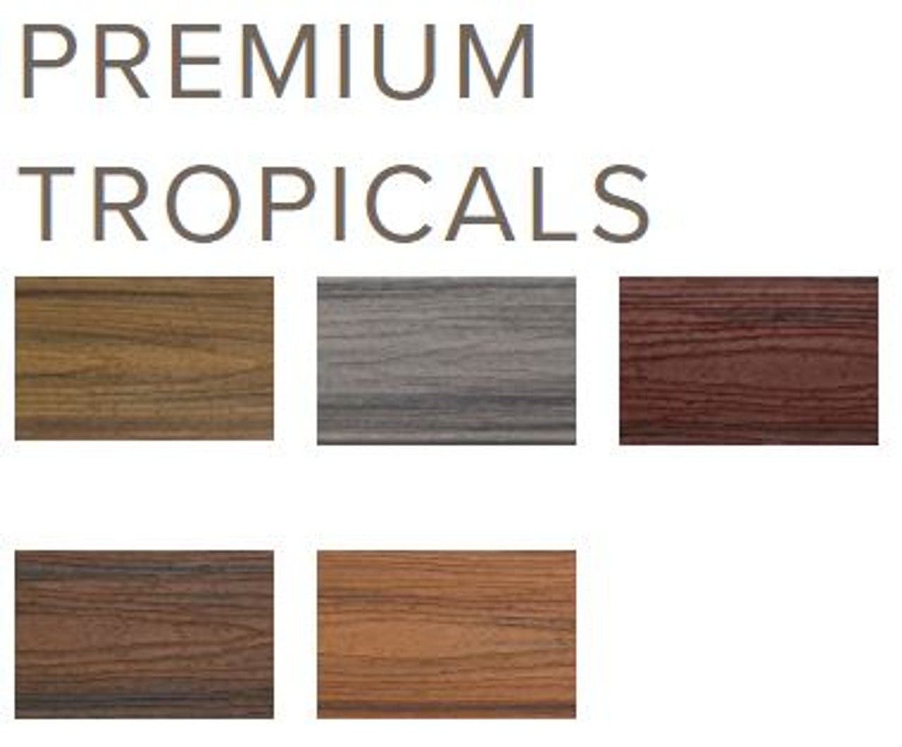 Trex Transcend Tropical Collection Colors