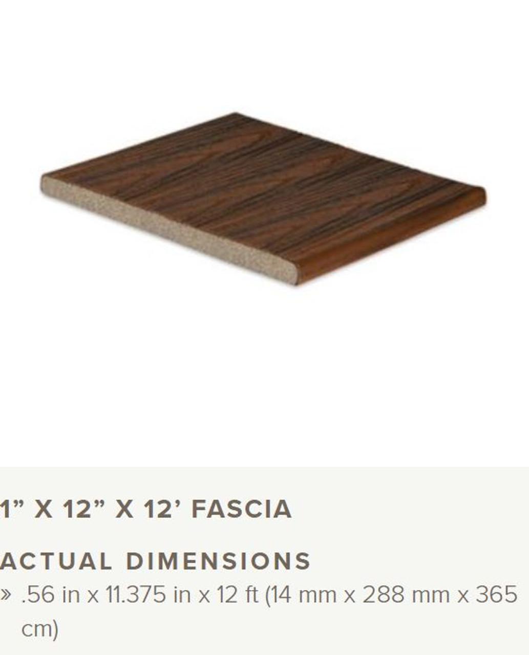 Trex Transcend Tropical Fascia 1x12x12 Profile