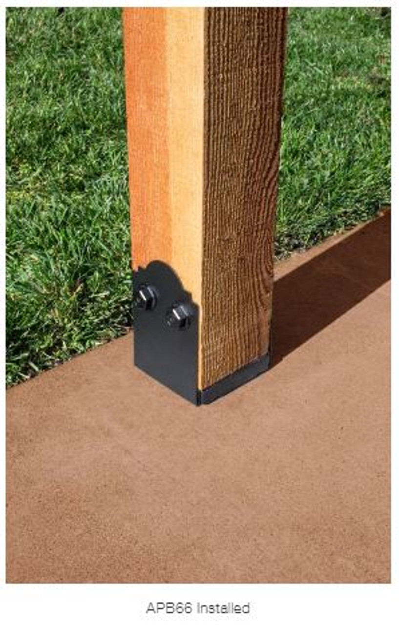 APB 66 SIMPSON Strong-Tie Ornamental Post Base for 6x6""