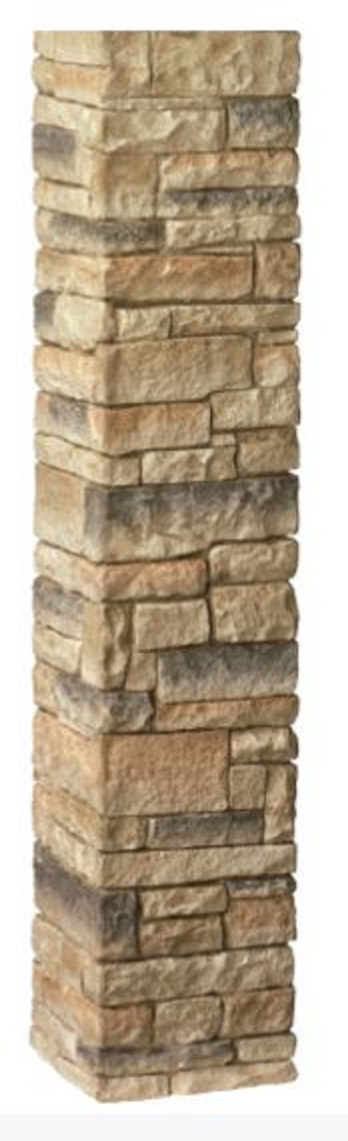 "DecKorators 42"" Stacked Stone Post Sleeve Beige"