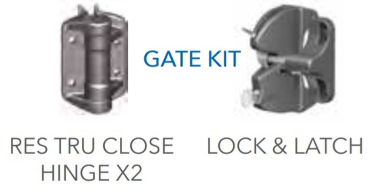 Fortress Fe26 Gate Kit Hinges and Latch