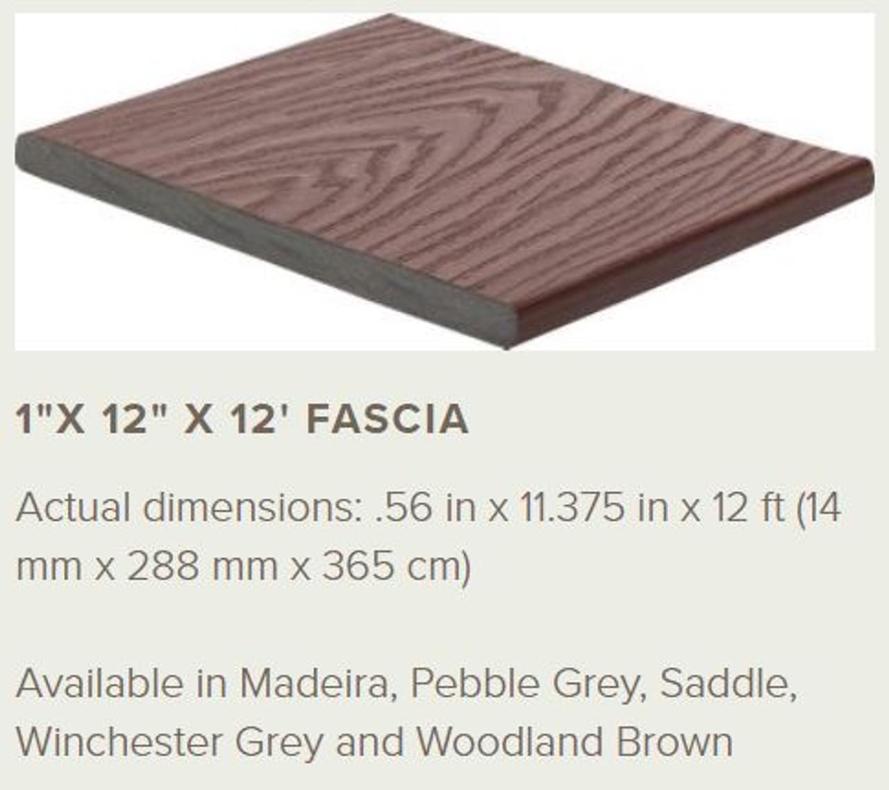 Trex Select Fascia Profile