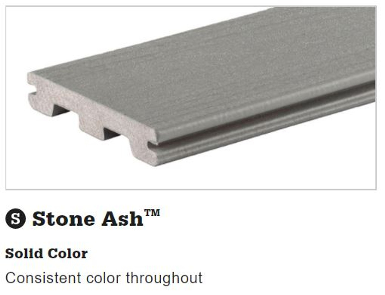 TimberTech Terrain Stone Ash Grooved Decking