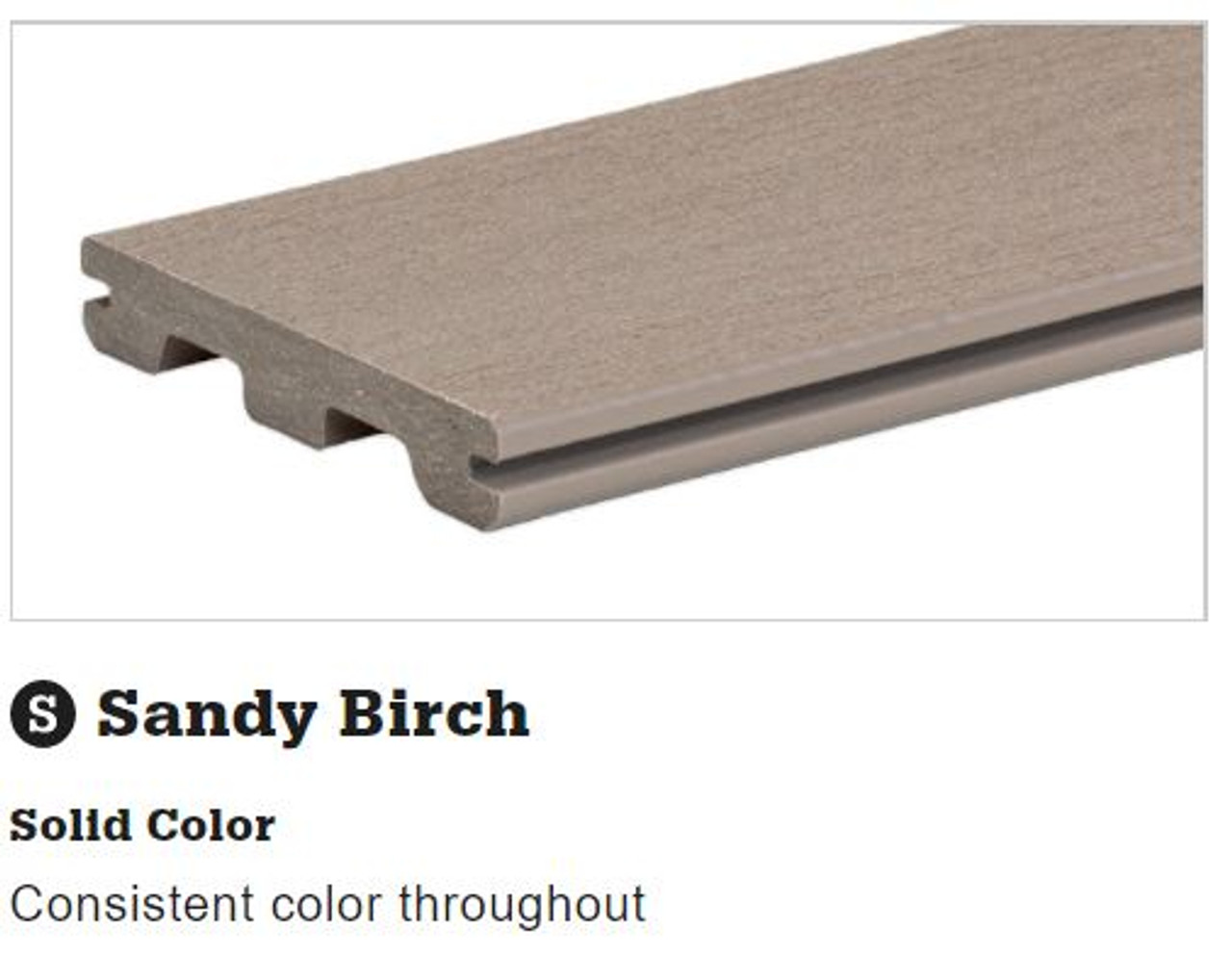 TimberTech Terrain Sandy Birch Grooved Decking