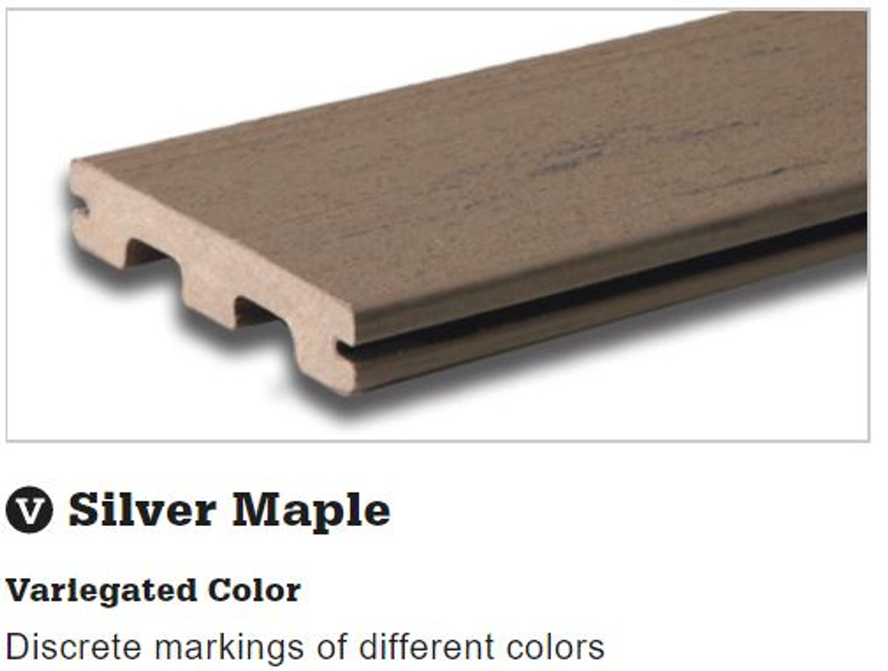 TimberTech Terrain Silver Maple Grooved Decking