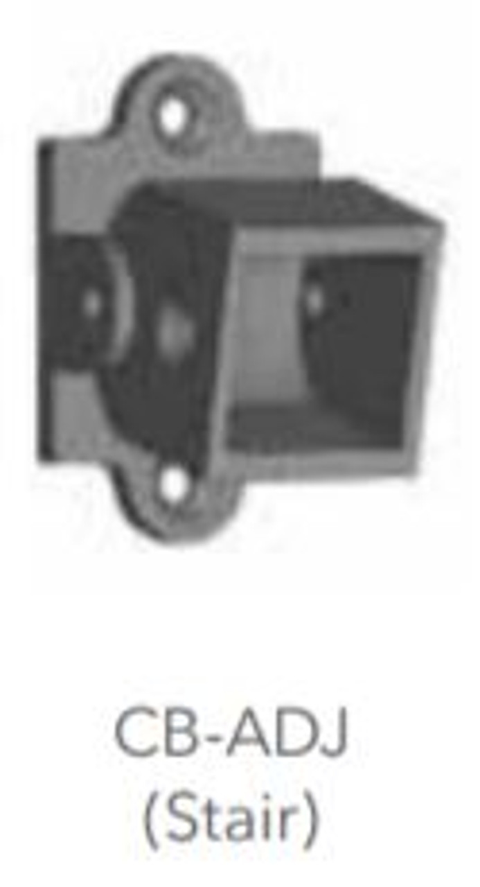 "Fortress Fe26 Traditional Iron Rail 1"" Collar Bracket (4 pack)"