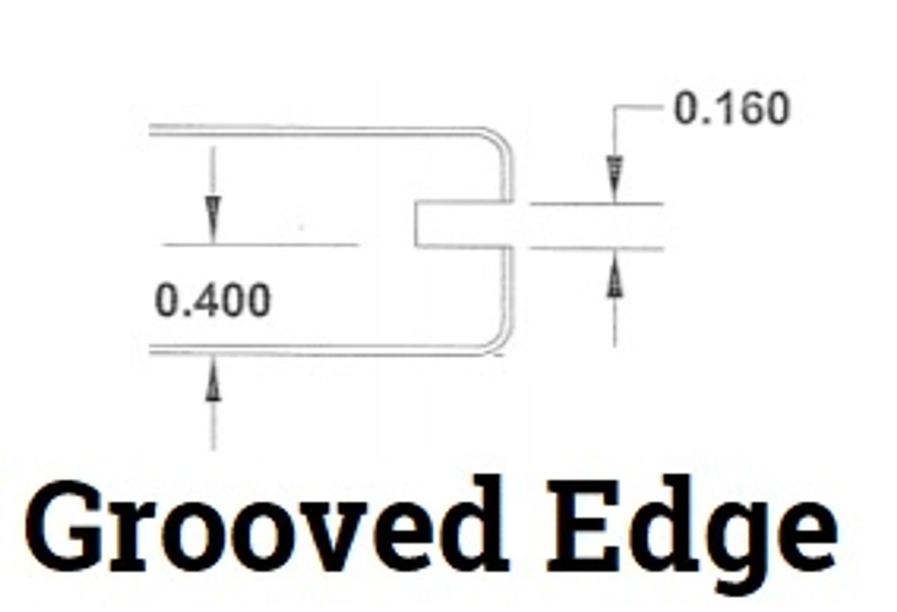 DecKorators Vault Decking Grooved Edge Profile