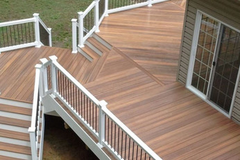 Fiberon Horizon Deck shown in Ipe