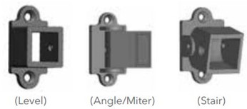 """Fortress Fe26 Traditional Iron Rail 1"""" Collar Bracket (4 pack)"""