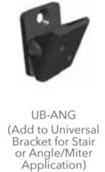"Fortress Fe26 1"" Universal Bracket Angle Adapter (4 ct) Black Sand"