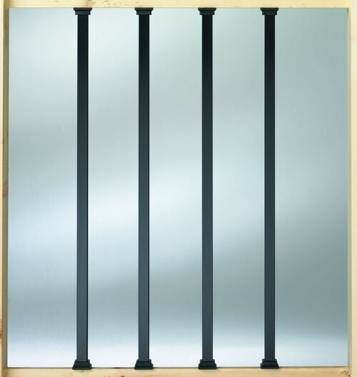 DecKorators Square Estate Aluminum Balusters (10 pack)