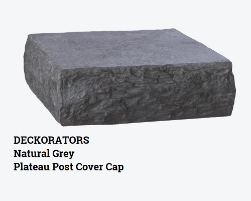 DecKorators Natural Grey Plateau Post Cover Cap