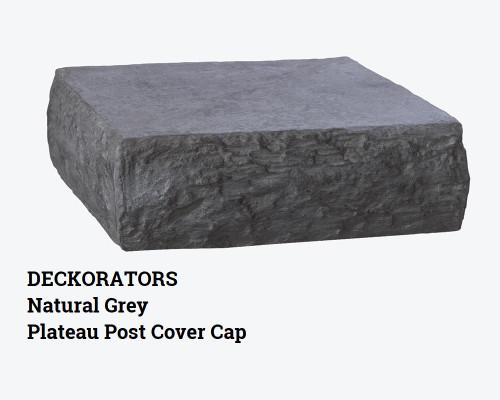 DecKorators Natural Grey Plateau Post Cover Cap