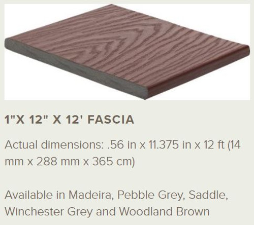 Trex Select Fascia Profile