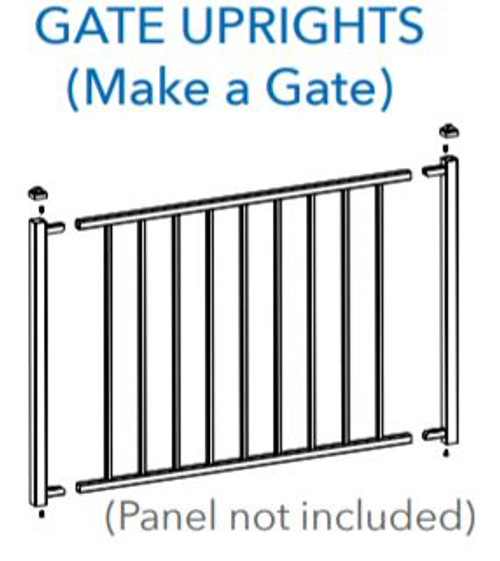 """Fortress Fe26 34"""" Gate Uprights (2 pc)"""