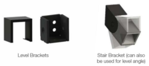 RDI Excalibur Steel Rail Bracket Kit (4 ct)