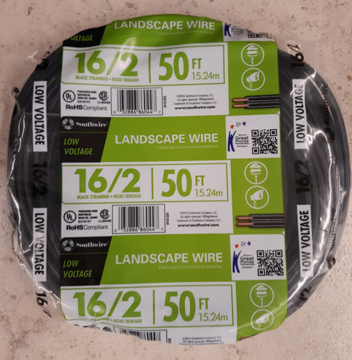 Southwire Landscape Wire 50 ft. Low Voltage 16/2 Black Stranded
