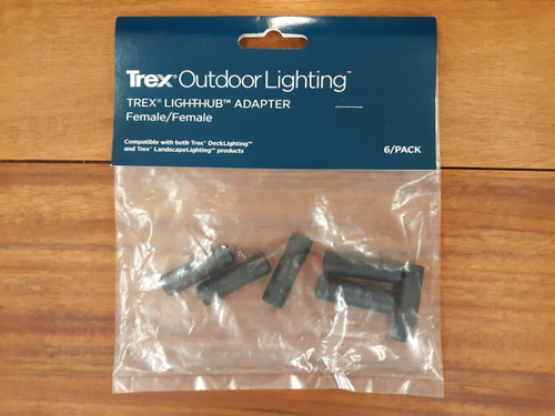 Trex Outdoor Lighting LightHub Adapter Female/Female (6 Pack)