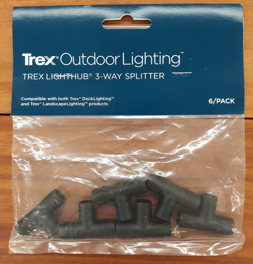 Trex Outdoor Lighting LightHub 3-Way Splitter (6 Pack)
