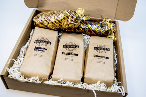 Coffee, Chocolate, and Nuts Gift Box