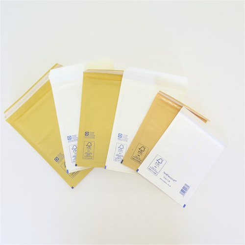 Assorted bubble-lined envelopes